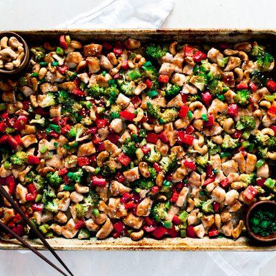 Sheet Pan Dinner – Cashew Chicken Recipe
