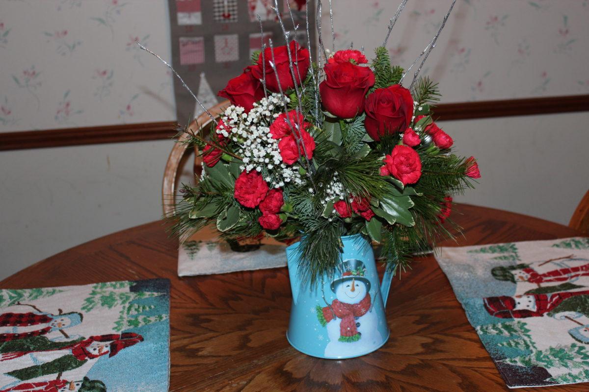 winter floral arrangements