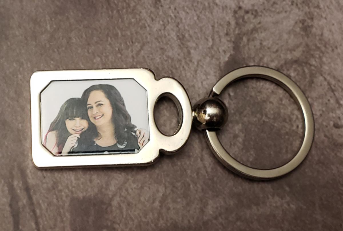 laser engraved photo keychain