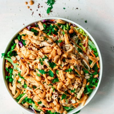 Crunchy Asian Chopped Salad with Chicken