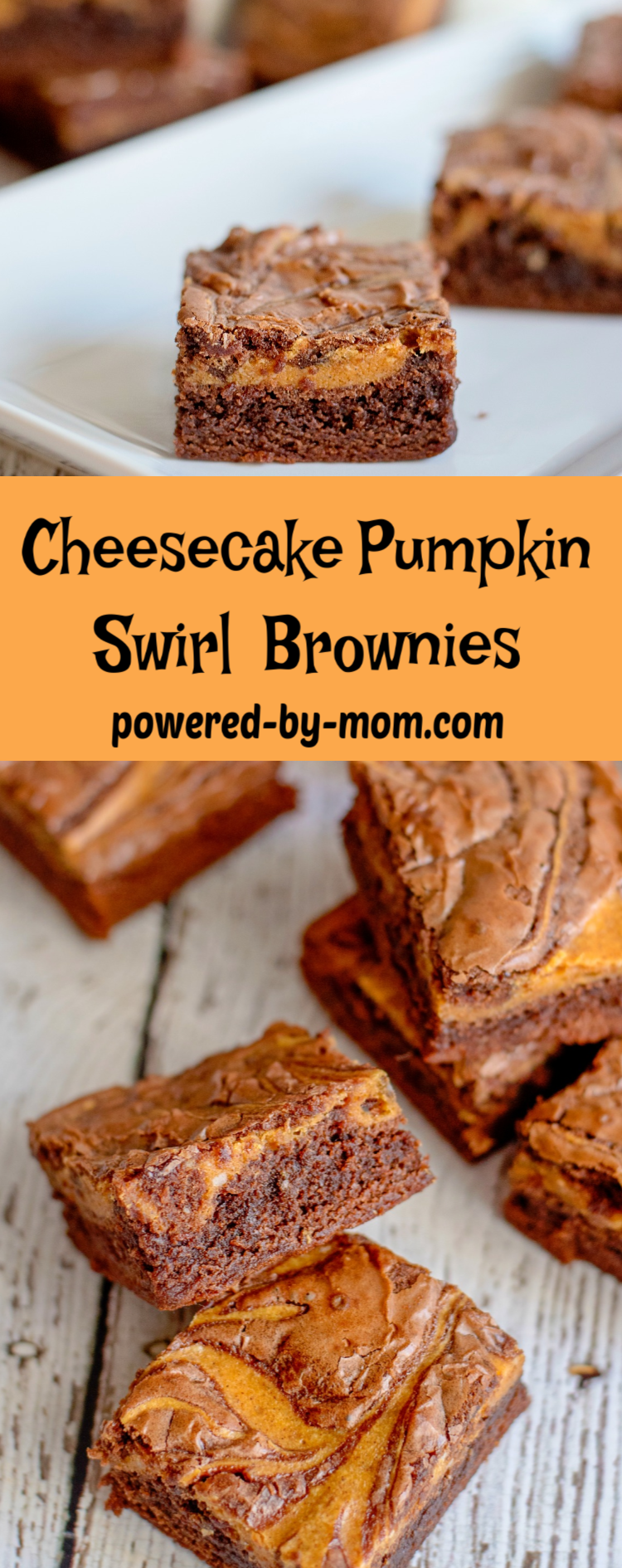Pumpkin Swirl Cheesecake Brownie These Pumpkin Swirl Cheesecake Brownies are a perfect combination of boxed brownies with a homemade pumpkin cheesecake swirl that saves time but delivers an amazing flavor!