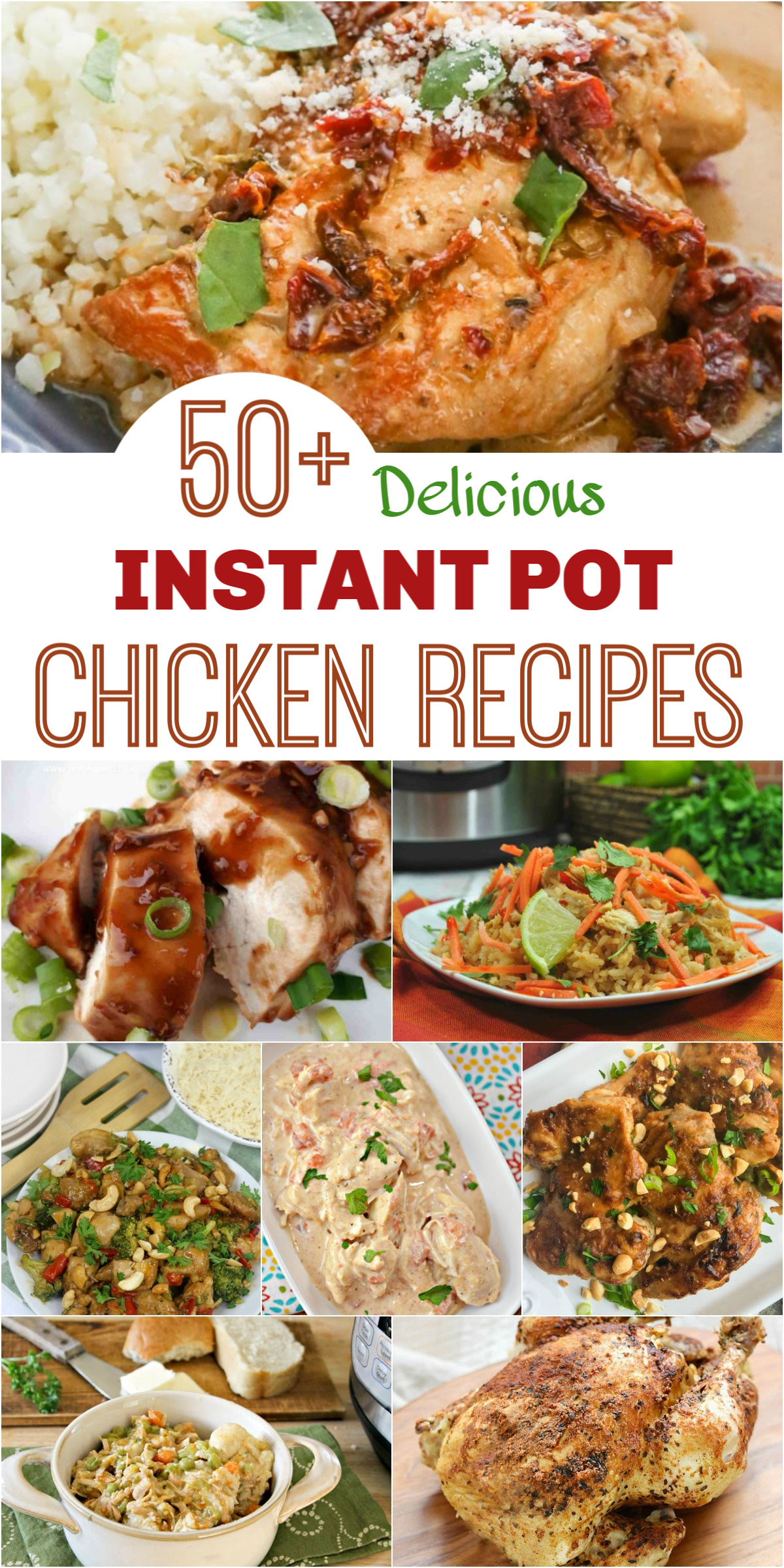 50+ Delicious Instant Pot Chicken Breast & Other Chicken Cuts Recipes