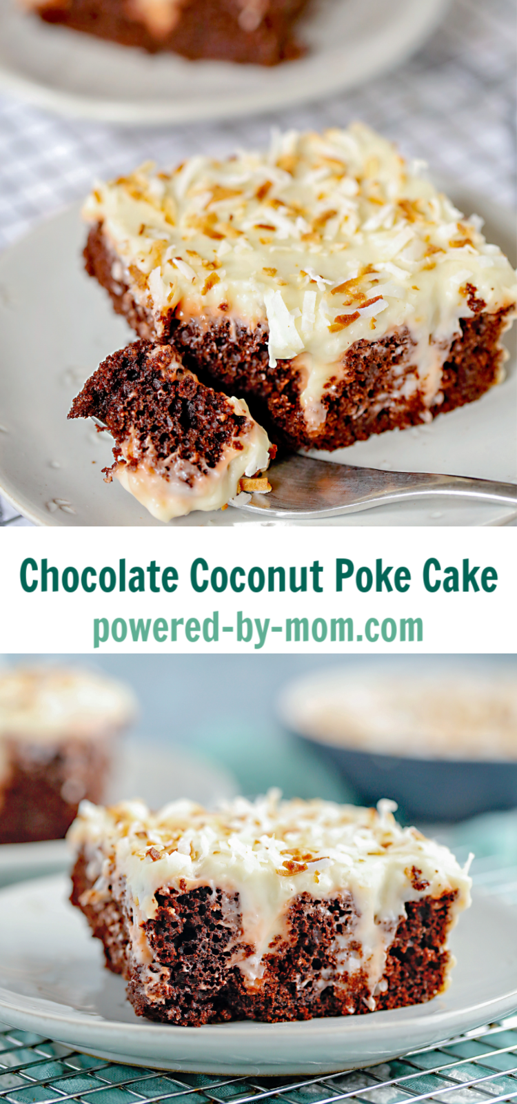 Make this Chocolate Coconut Poke Cake with a simple cake mix and homemade coconut pudding that will wow your tastebuds and look like you slaved for hours in the kitchen! Make sure to check out our Death by Chocolate Poke Cake too!