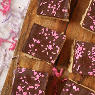 Sugar Cookie Bars with Chocolate Ganache