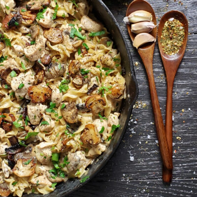 One Pan Chicken Stroganoff Recipe