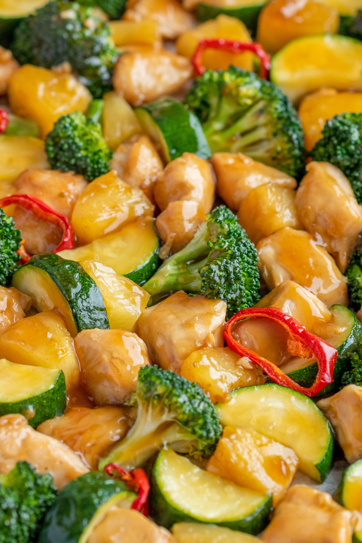 sheet pan chicken teriyaki