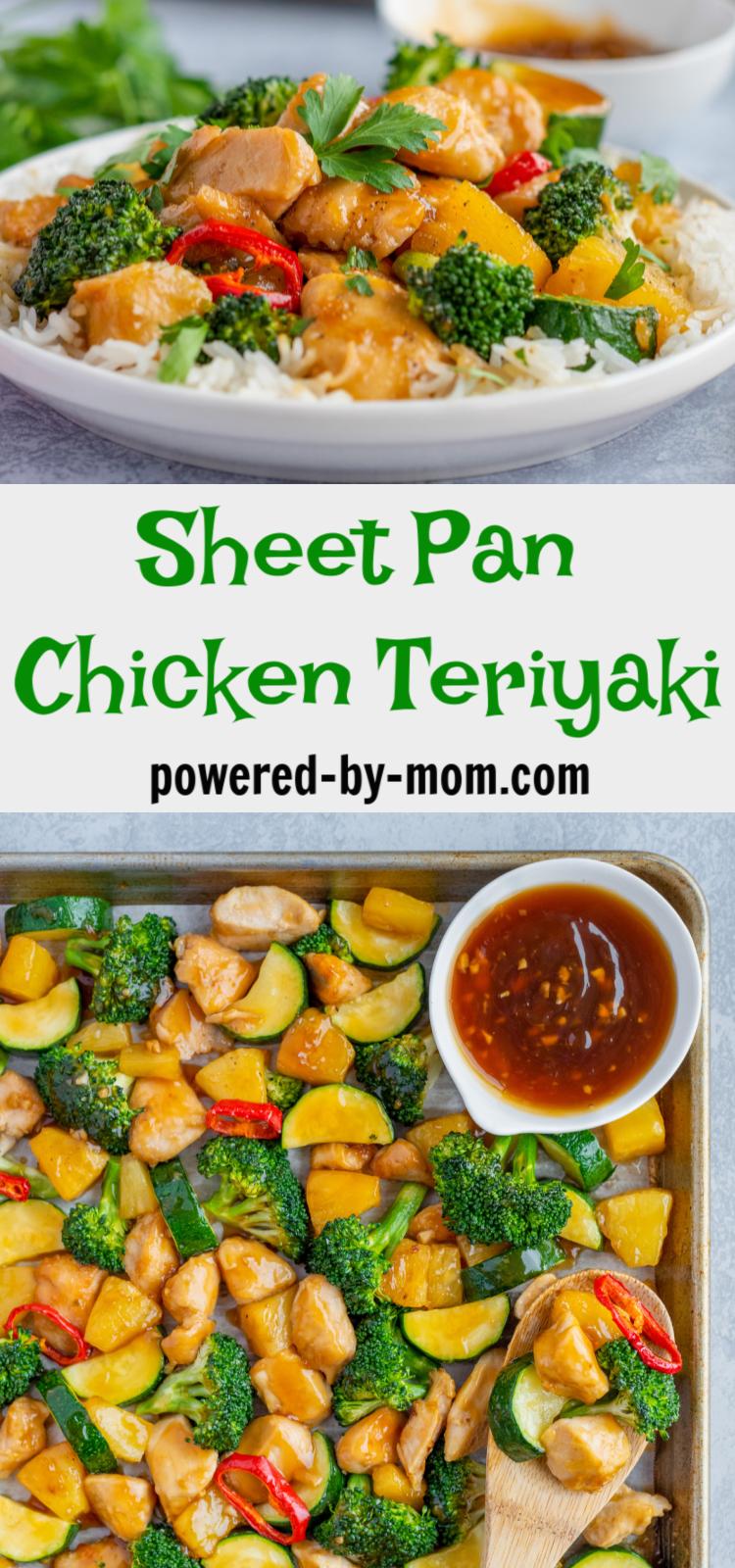 baked teriyaki chicken sheet pan dinner