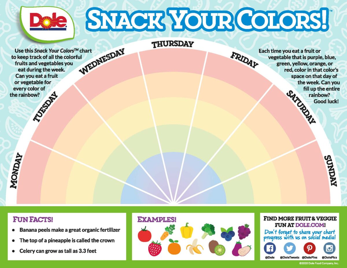 snack your colors activity sheets