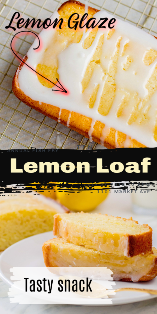 This delicious Lemon Loaf Recipe is a great addition to your home-baked goods recipes. A delicious loaf with a light glaze is an ideal snack or treat!