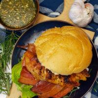 Maple Rosemary & Garlic Herb Grilled Chicken Burger