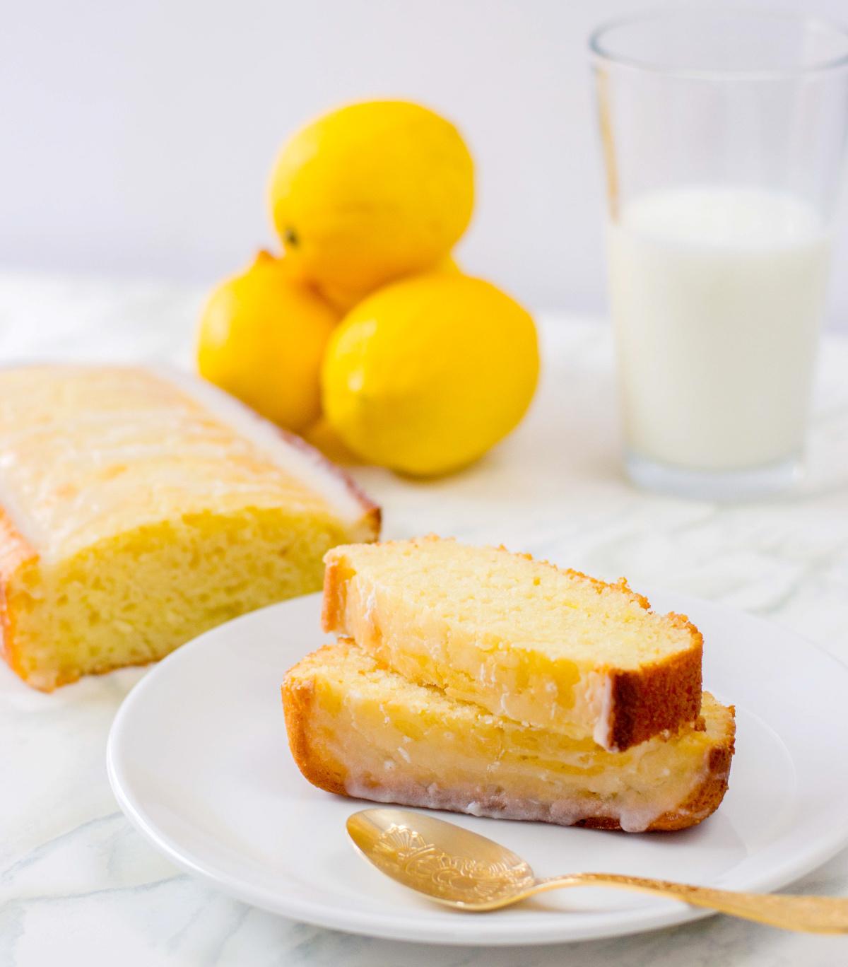 lemon loaf with milk