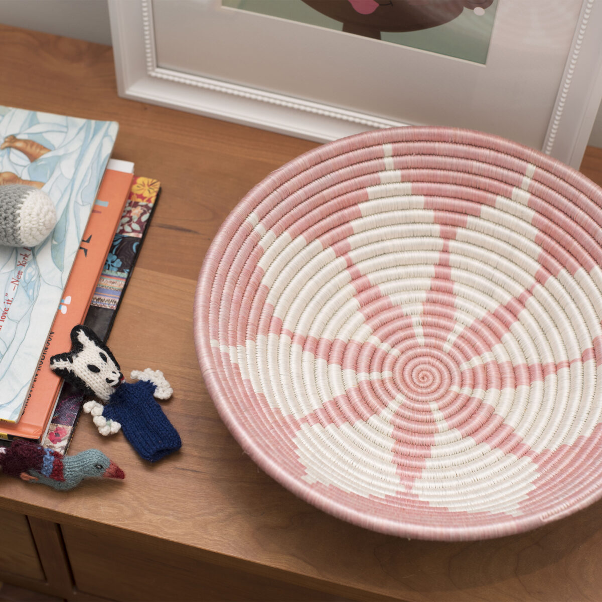 wovent basket bowl in pink from 54kibo