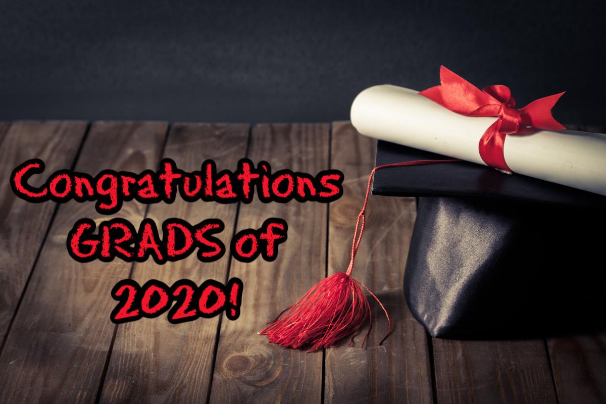 graduation cap, diploma congratulations grads of 2020