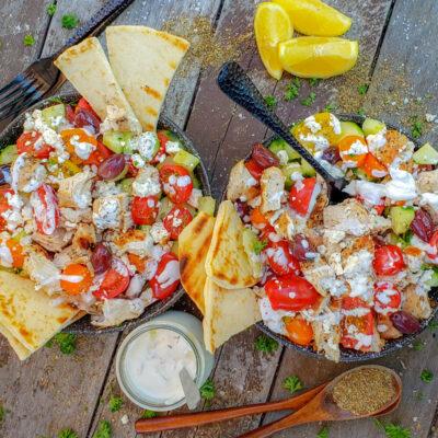 Grilled Greek Chicken Salad Recipe