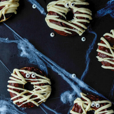 Baked Mummy Halloween Donuts