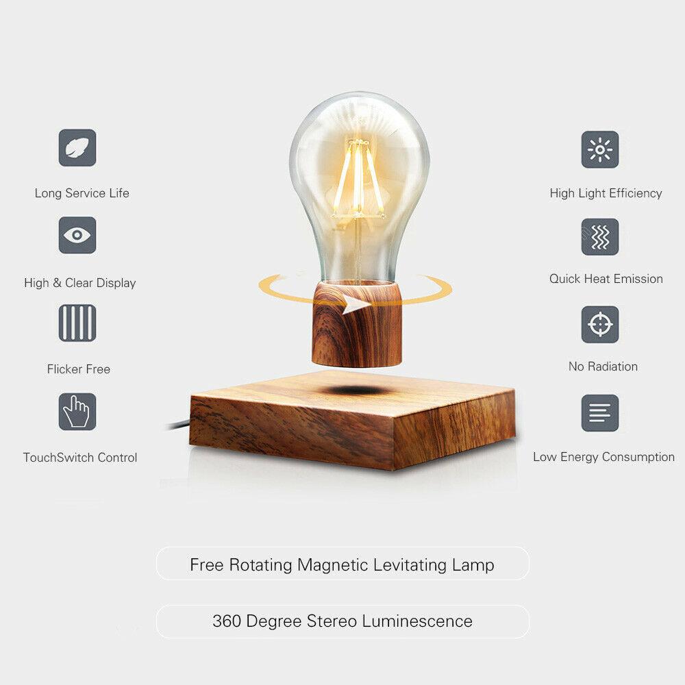 levitating light bulb features