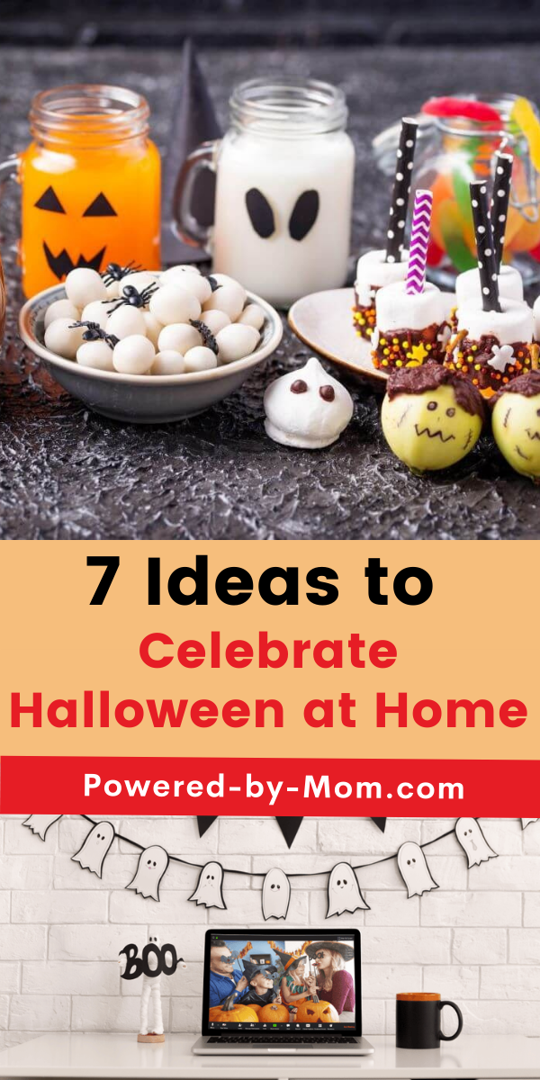 You can have fun when you celebrate Halloween at home. We're sharing 7 ideas on how to have a great time at home on Halloween with the kiddos