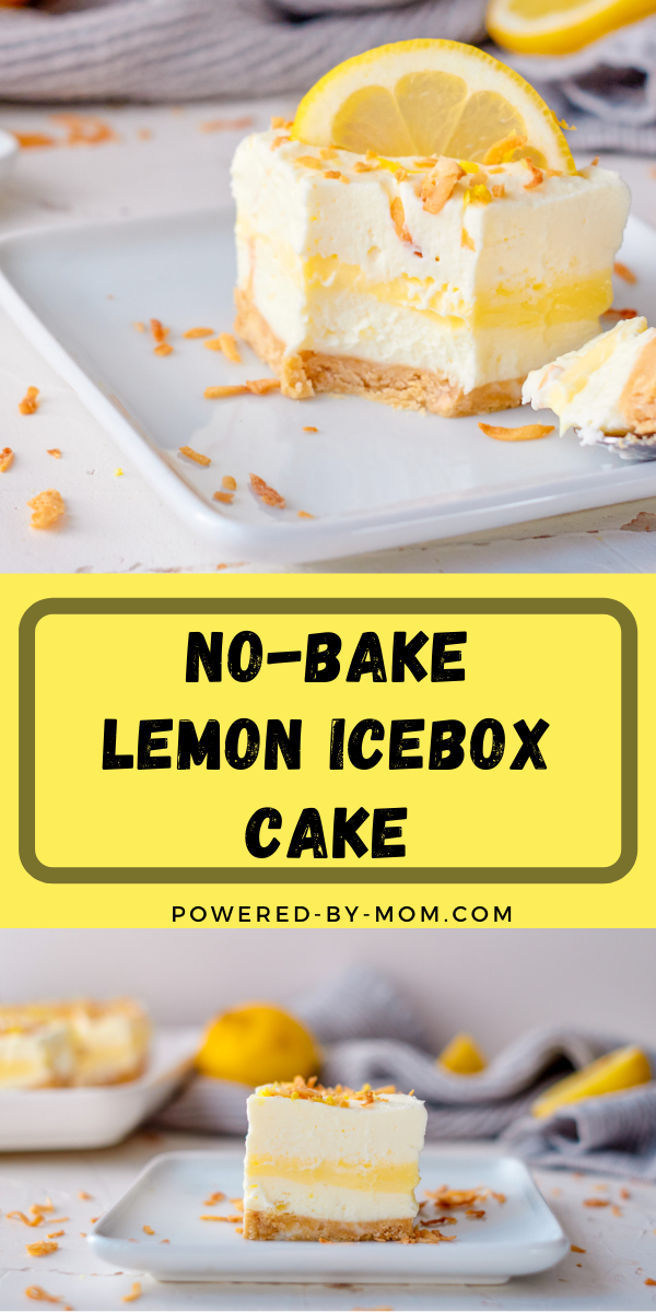 This No-Bake Lemon Icebox Cake is layered with deliciousness! Crunchy, creamy, sweet, and just a bit tart, it's a perfect dessert any time of year!