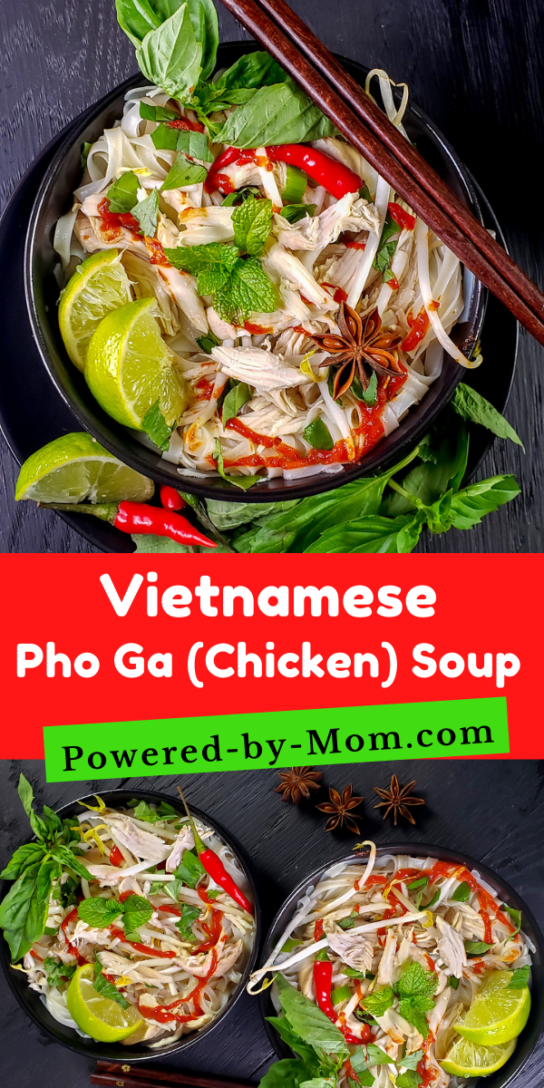 Enjoy this Pho Ga Recipe (Vietnamese Chicken Noodle Soup) which is all about the flavourful broth. This Chicken Pho is a delicious meal!