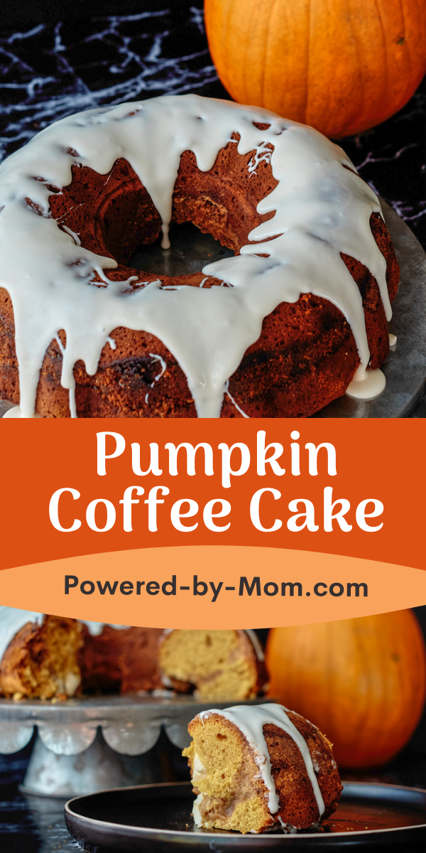 Make a Pumpkin Coffee Cake with a delicious cream cheese icing drizzle for a scrumptious sweet fall treat that everyone will love.