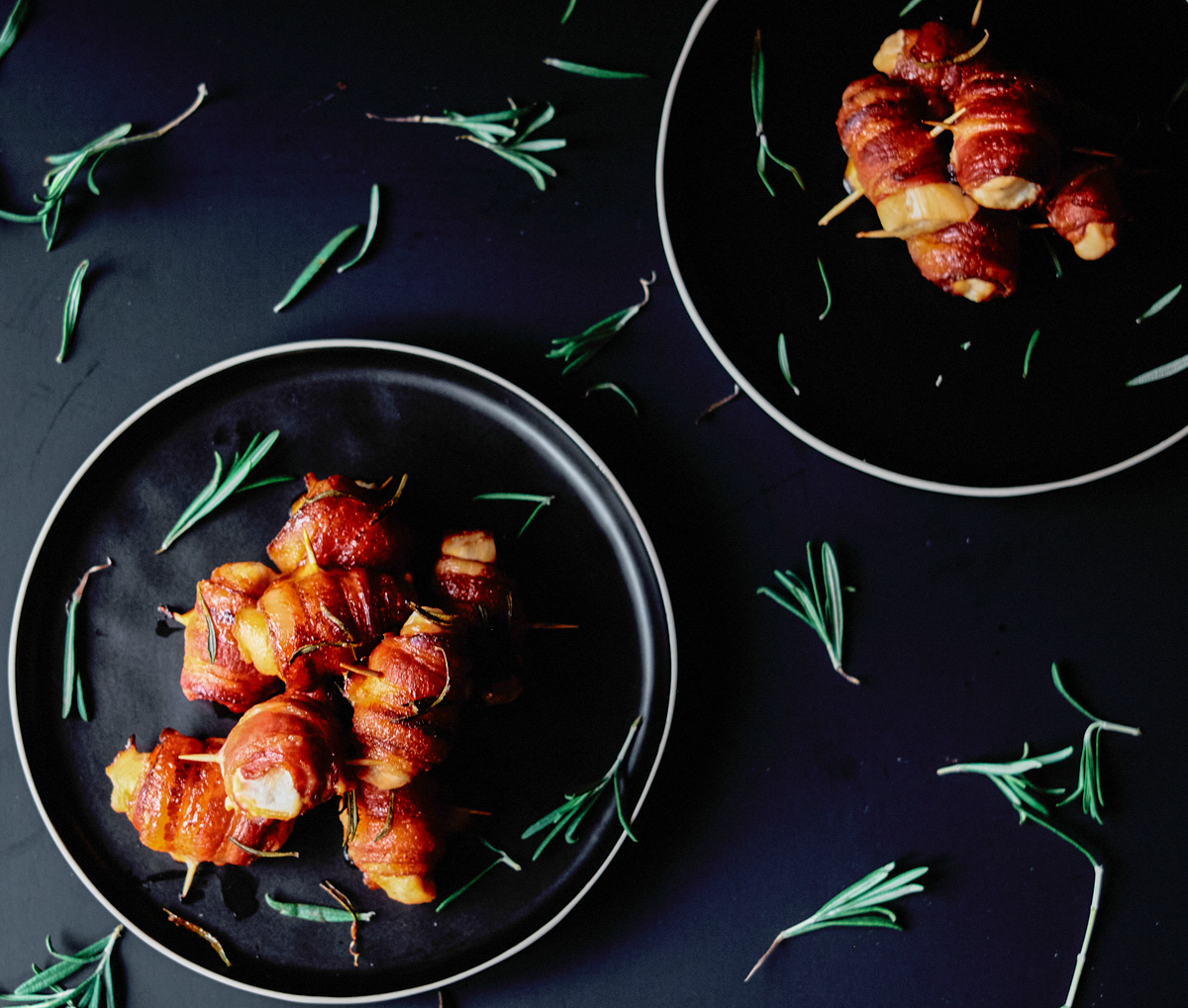 bacon wrapped chicken bite