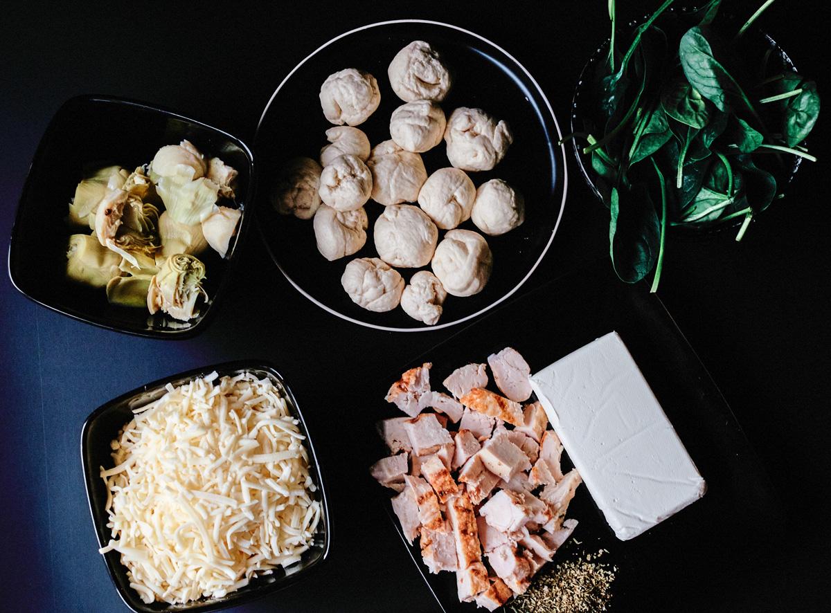 Chicken Spinach Dip Ingredients