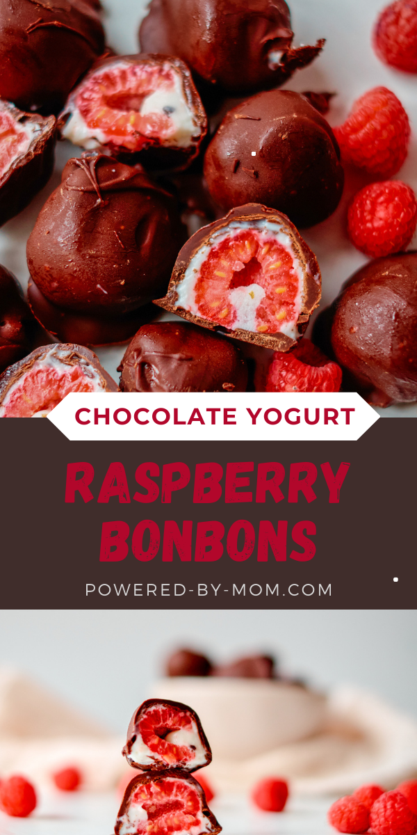 This Raspberry Bonbon is a delicious sweet raspberry coated in yogurt and dipped in chocolate for a delightful morsel of flavour!