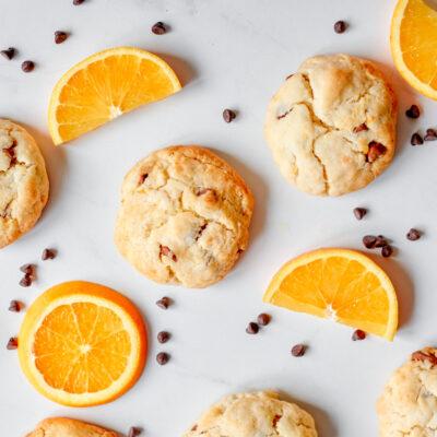 Orange Chocolate Chip Cake Mix Cookie