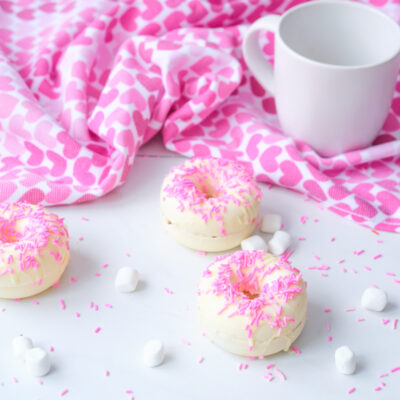 Donut White Chocolate Hot Cocoa Bomb