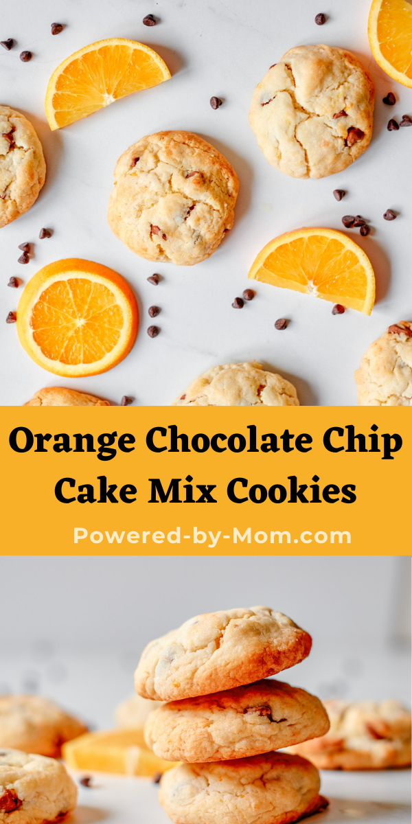 This Orange Chocolate Chip Cake Mix Cookie Recipe is a perfect easy dessert recipe that everyone will love! A fun spin on a classic!