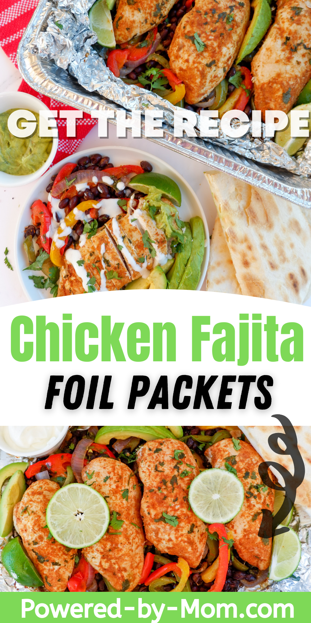 These Chicken Fajitas Foil Packets can have everything that you love about traditional chicken fajitas but with less mess and fuss and all the yummy flavour!