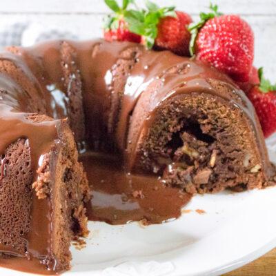 Tunnel of Fudge Cake with Chocolate Ganache