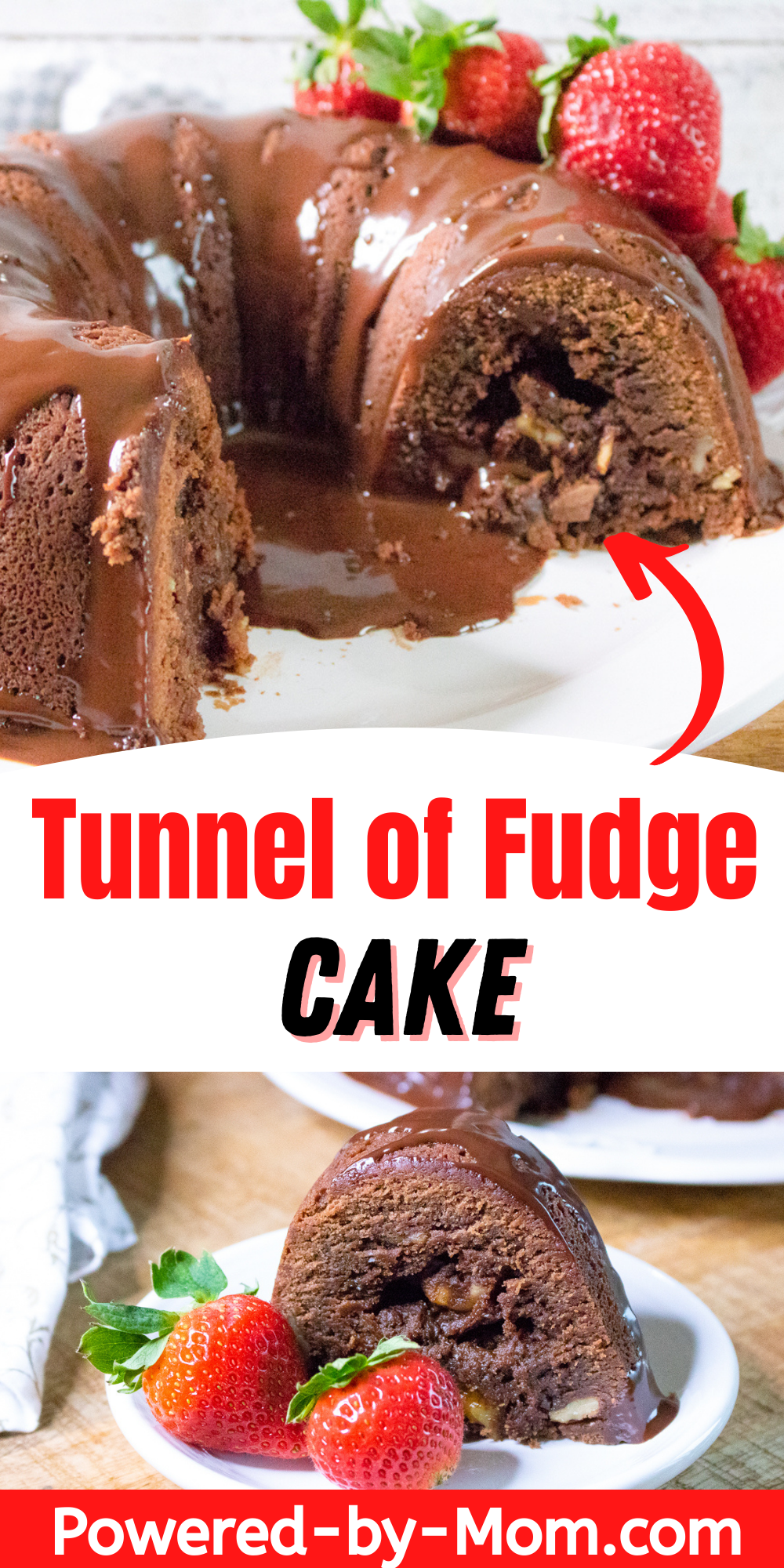 Make this delicious chocolate ganache recipe for a moist tunnel of fudge cake and watch everyone come running! This recipe is easier than you think.