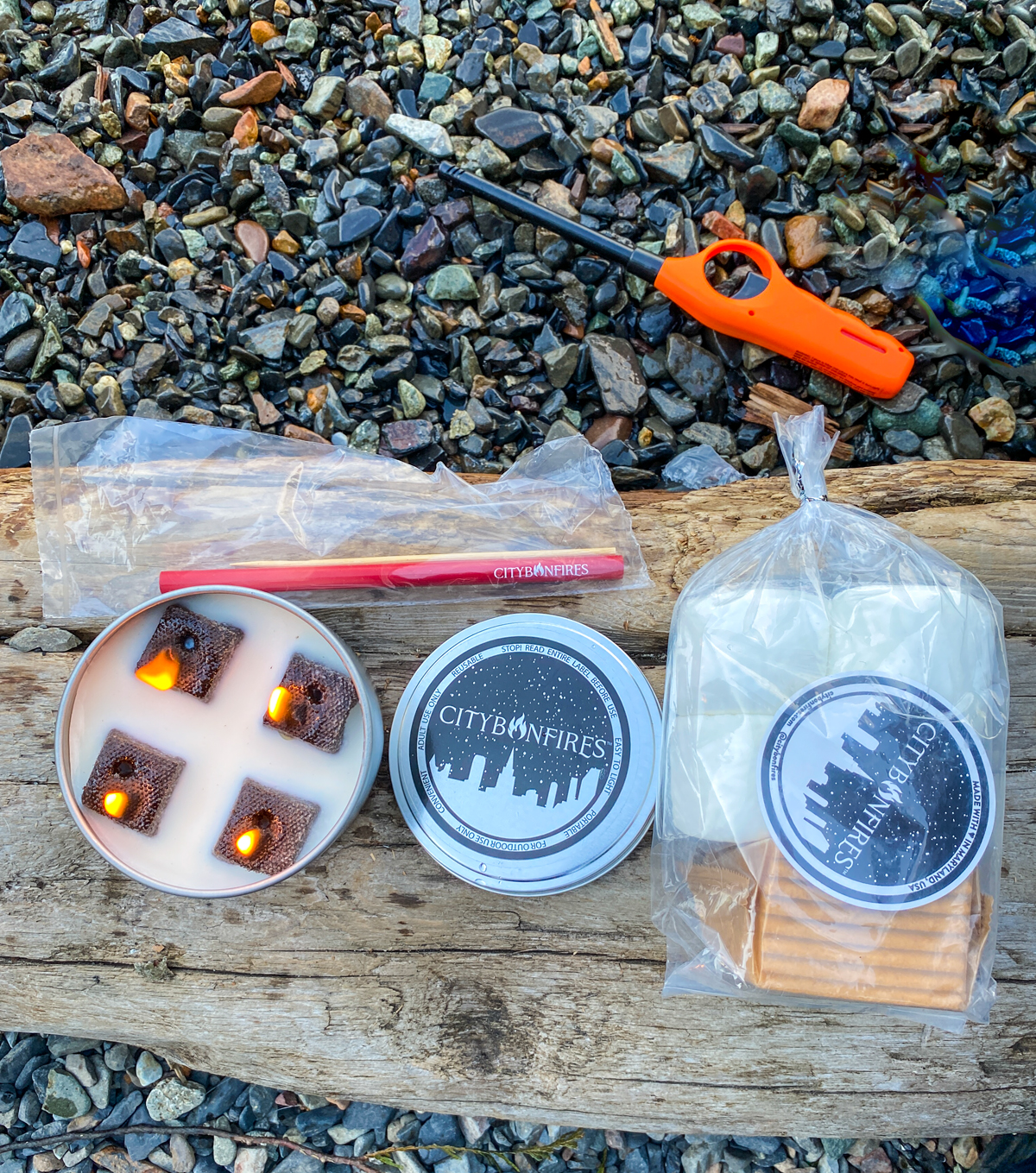 city bonfires with smores kit