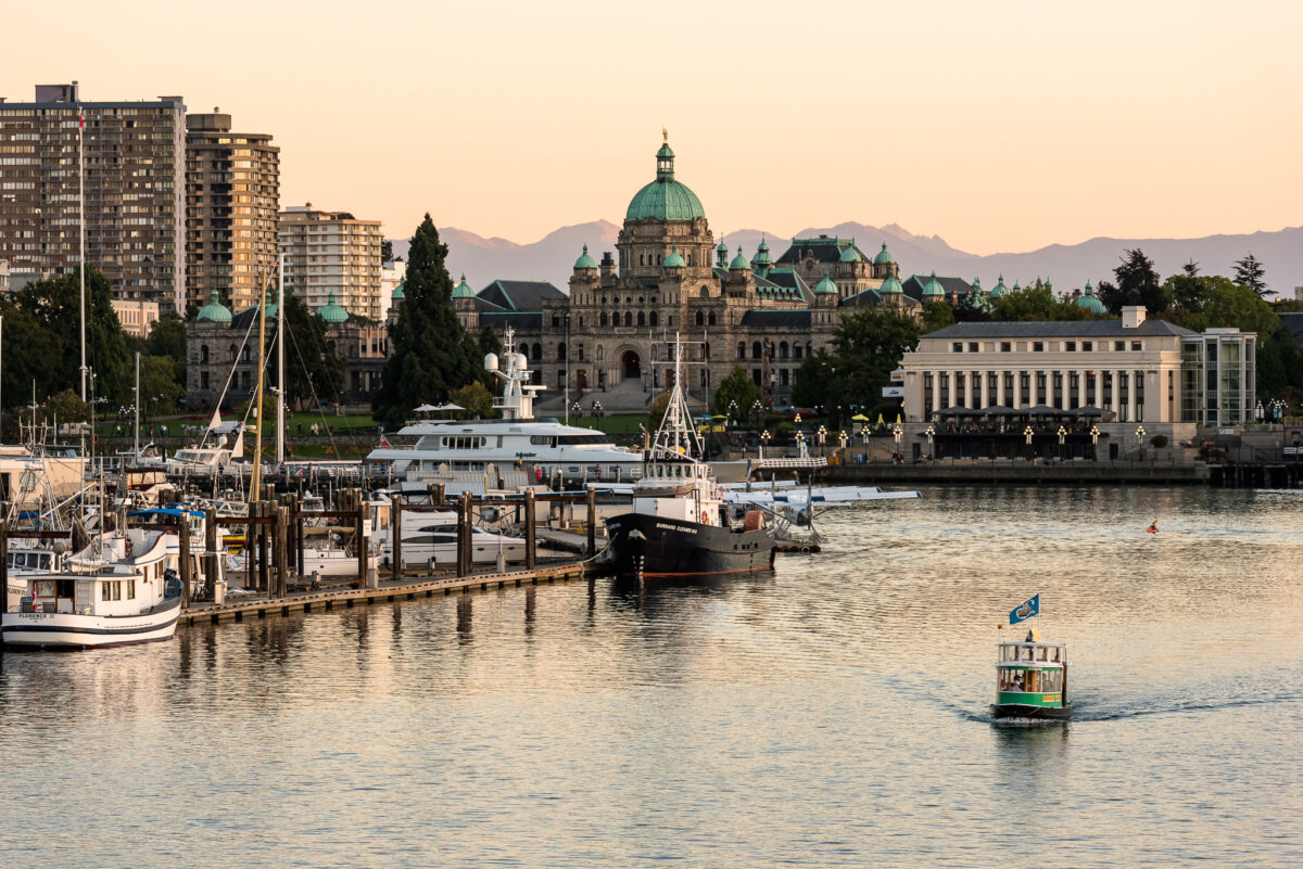 nner Harbour marina with the Parliament Buildings in the background Victoria British Columbia