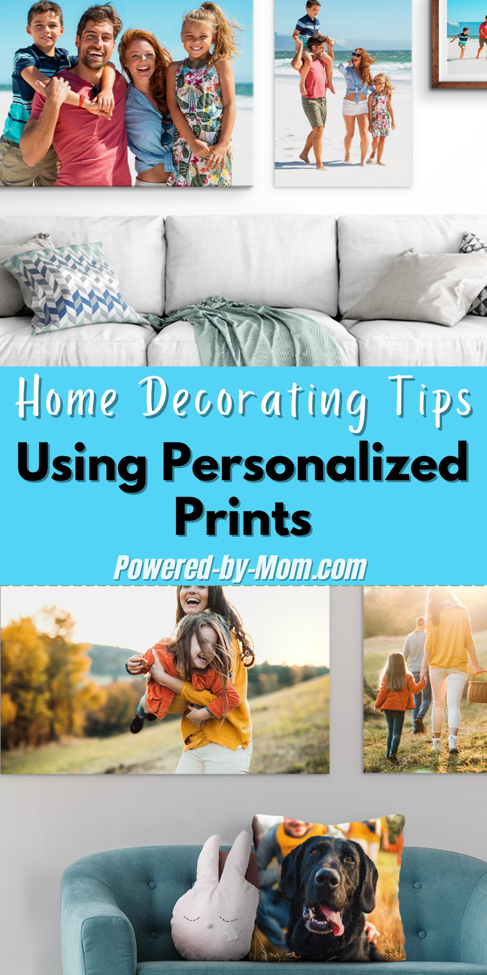 One easy but effective way to create the ambiance and style you want to exude in your home is to use the storytelling power of photography like in a display of personalized prints.