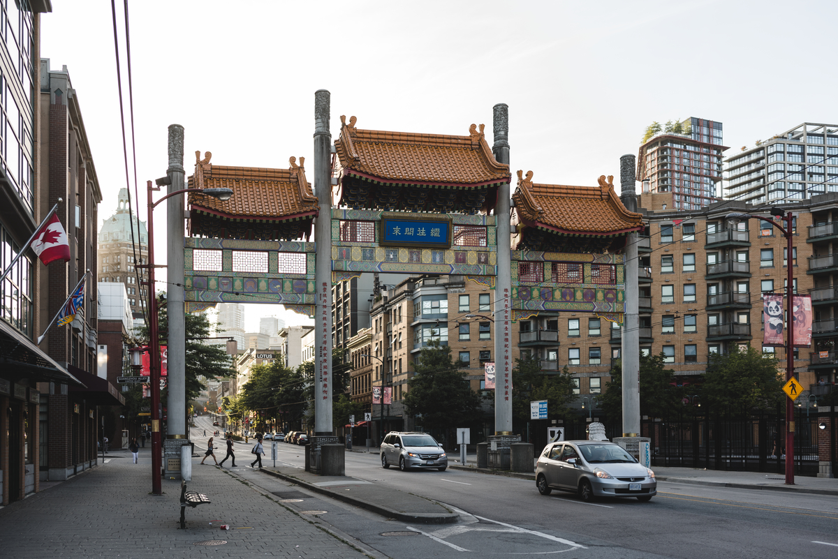 The Vancouver Chinatown Millennium Gate in Chinatown