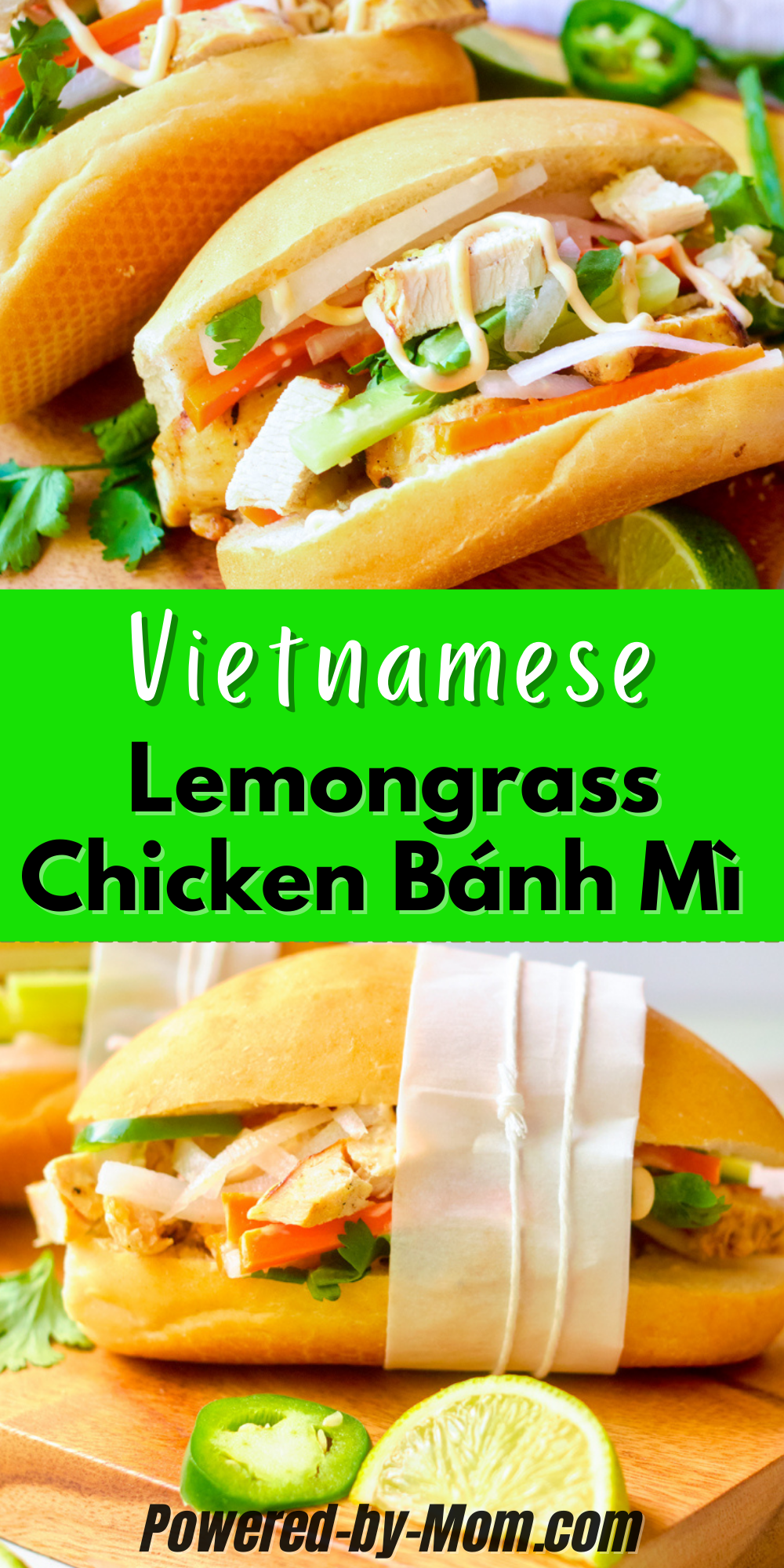 This recipe is for a Lemongrass Chicken Bánh Mì with sriracha mayo (yum) and we're sharing how you can make several meals from a batch of yummy lemongrass chicken to make your meal planning all that much easier! Before we know it the kids will be back in school and we want to make lunches for them and us easier. The kiddos can add the toppings they like and so can you!