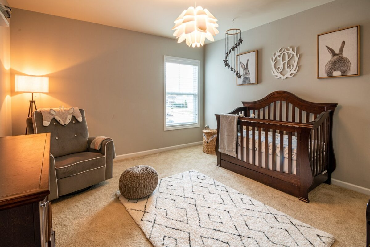 sleep training prep, crib in kids bedroom