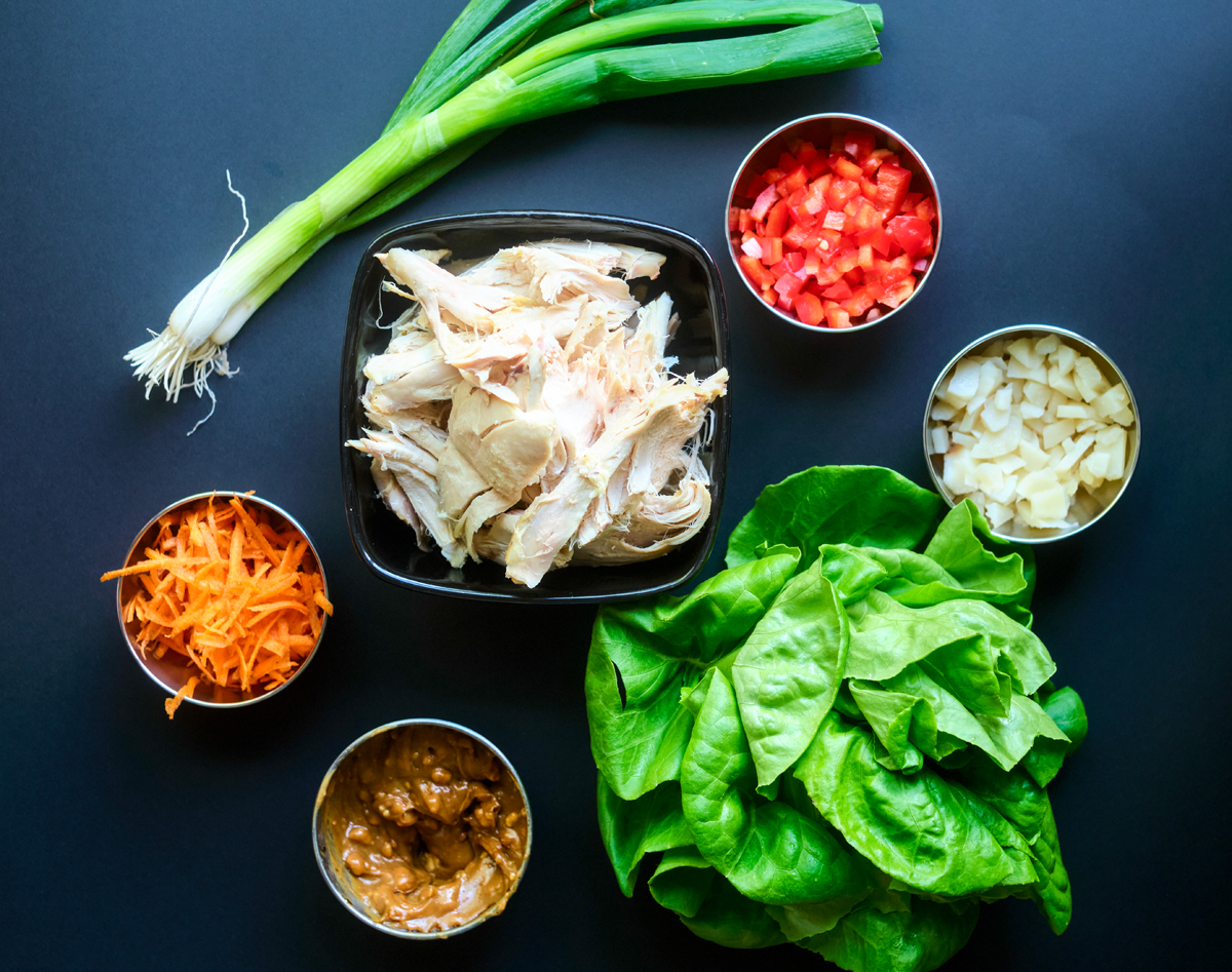 Recipe for Asian Chicken Lettuce Wraps Ingredients