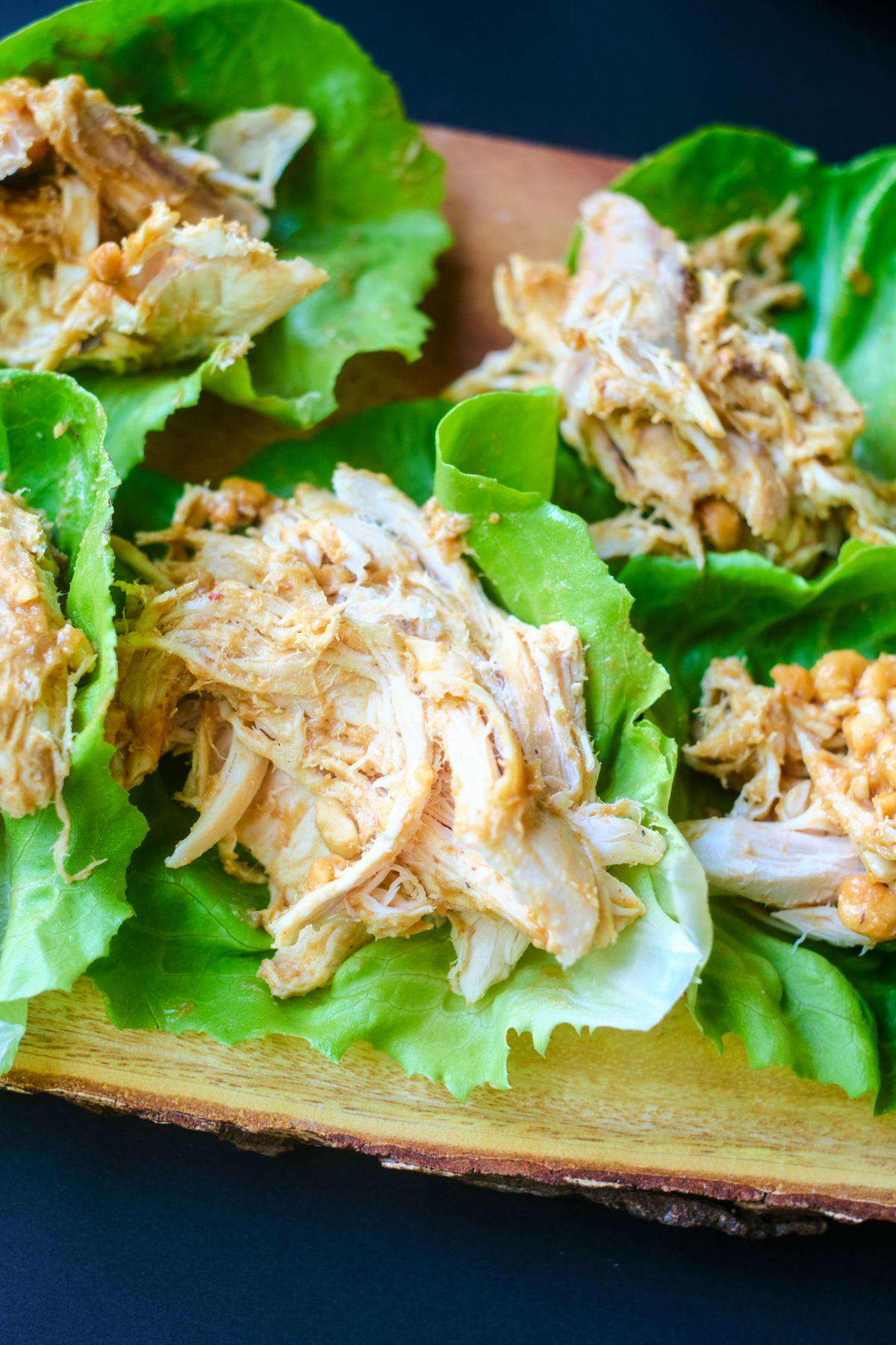 recipe for asian chicken lettuce wraps - chicken in the lettuce no toppings