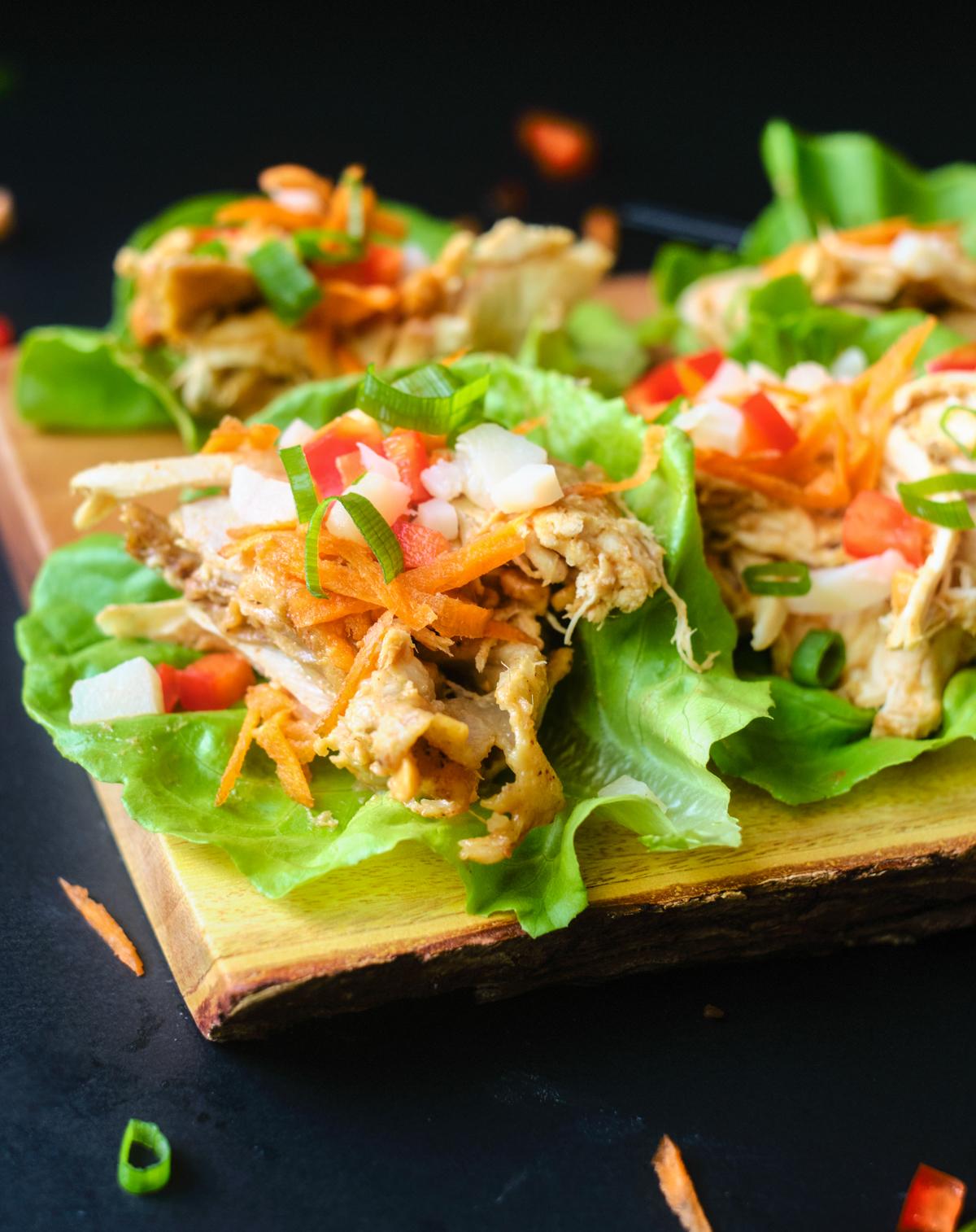 Recipe for Asian Chicken Lettuce Wraps